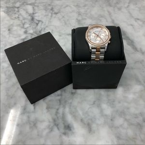 Marc Jacobs Silver & Rose Gold Watch